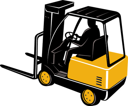 Forklift truck with driver Stock Vector - 5551474