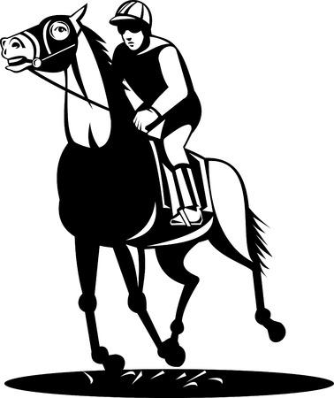 Horse and jockey on a winning run Stock Vector - 5603372