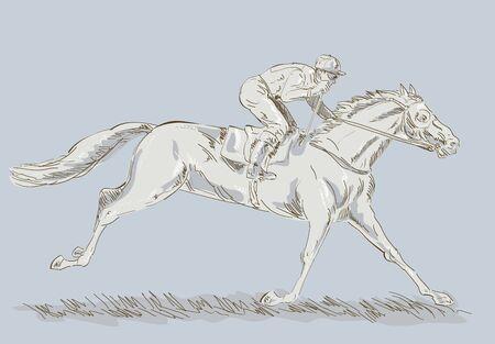 Horse and jockey in a race winning Stock Photo - 5945024