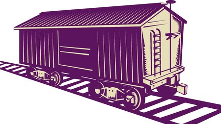 boxcar: Boxcar of a cargo train Stock Photo
