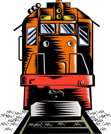 diesel train: Diesel train front view