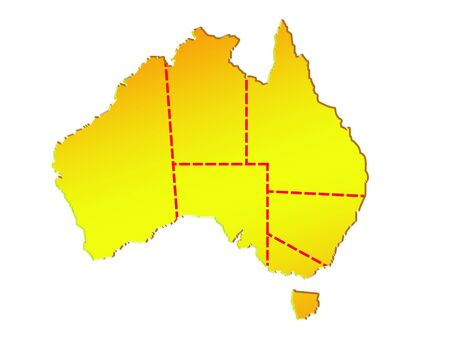 boundaries: map of australia  showing eight states and its boundaries