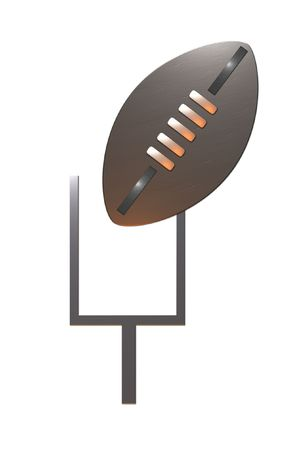 american rugby football showing ball and goal post Stock Photo - 6195775