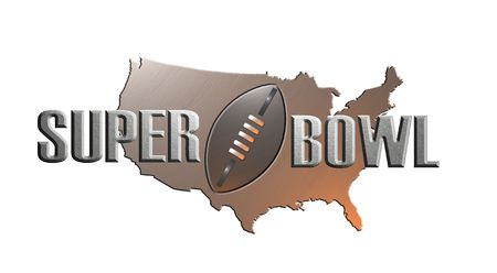 illustration of american rugby football superbowl with map Stock Illustration - 6195780