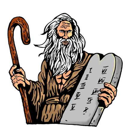 Moses Carrying The Ten Commandments On A Tablet Stock Photo - 6218380