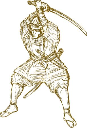 knell: samurai warrior with sword in fighting stance