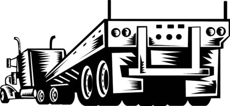 forwarding: illustration of a truck and trailer viewed from the rear