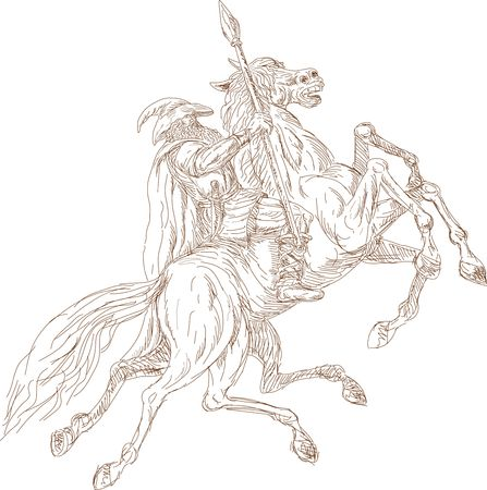 norse: Norse God Odin riding eight-legged horse, Sleipner