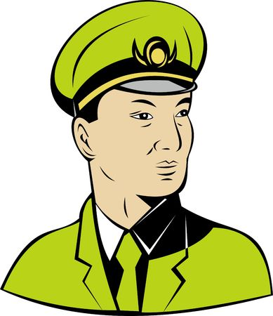 general: chinese general Stock Photo