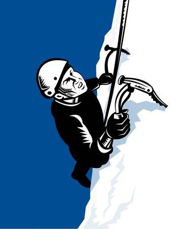 mountain climber: Alpinista scalata al Vertice  Archivio Fotografico