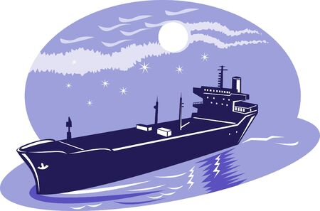 hull: Commercial Tanker sailing  the high seas