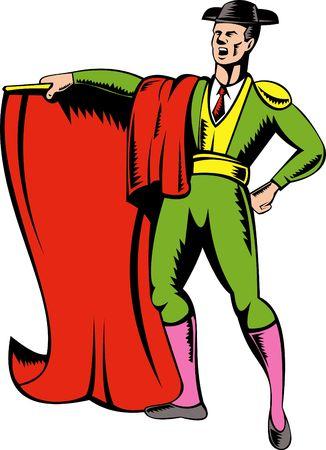 bullfighter: Matador or bullfighter with red cape