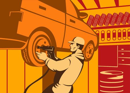 tool cabinet: Automobile mechanic at work