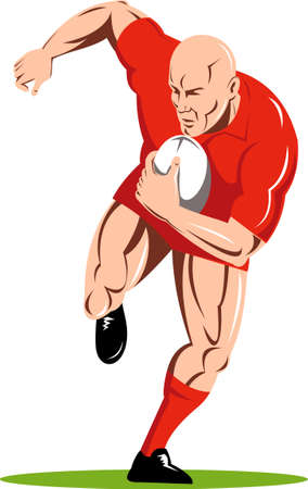 rugby player running with the ball Stock Photo - 7046112
