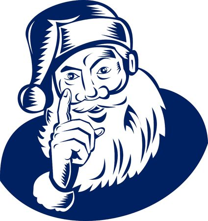 wag: santa claus wagging a finger at you Stock Photo