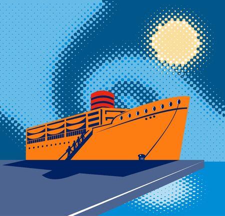 docking: Passenger ship Boat at the docks