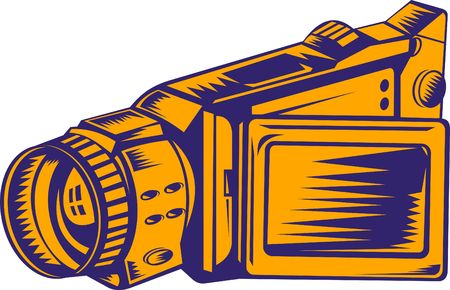handycam: video camera recorder Stock Photo