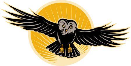 Owl flying Stock Photo - 7556308