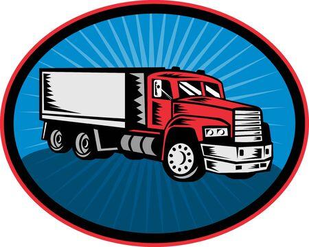 camion volteo: Ilustraci�n de un cami�n con rayos en segundo plano
