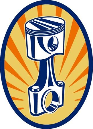 piston rod: illustration of a piston rod