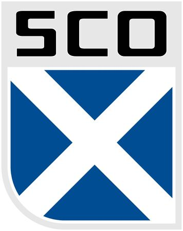 scot: Illustration an icon of the Flag of Scotland Stock Photo