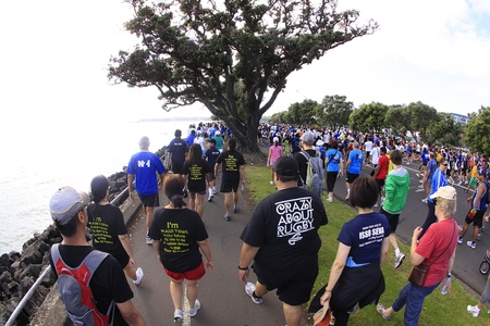 AUCKLAND- Mar. 13: Participants of Auckland Round the Bays, one of the worlds largest fun walk and run with an estimated 70,000 entrants, in Auckland, New Zealand on Sunday March 13, 2011.