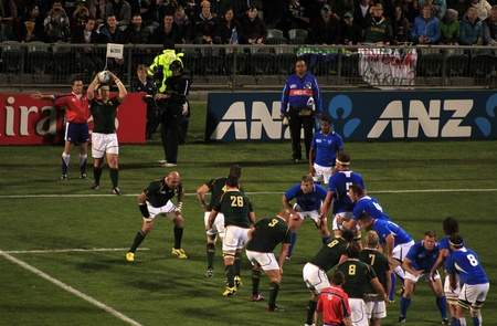 AUCKLAND-Sept. 22: Rugby World Cup 2011 match between South Africa and Namibia at the North Shore Stadium in Auckland, New Zealand on Thursday September 22, 2011.