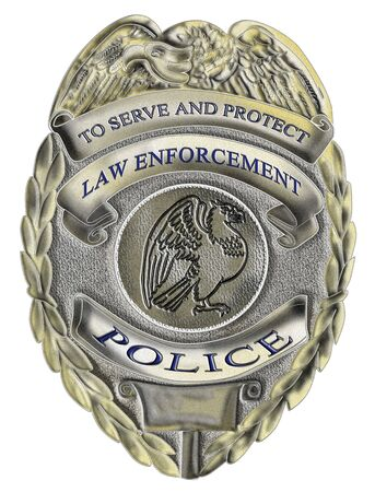 illustration of a sheriff law enforcement police badge Stock Photo