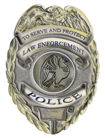 sheriff badge: Ilustraci�n de una placa de polic�a hacer cumplir la ley del sheriff