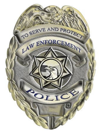 sheriff badge: illustration of a sheriff law enforcement police badge Stock Photo