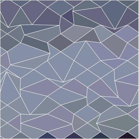 polyhedron: Ilustraci�n de estilo poligonal baja de un gris azul de fondo abstracto. Vectores