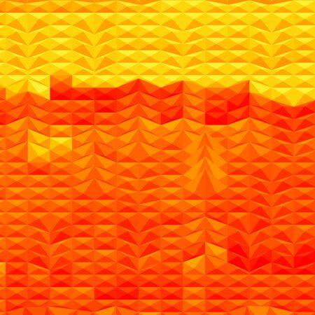 polyhedron: Ilustraci�n del estilo de pol�gono bajo de una sequ�a rojo resumen de antecedentes.