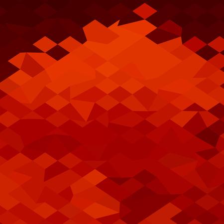polyhedron: Ilustraci�n de estilo poligonal baja de una lava roja resumen de antecedentes.