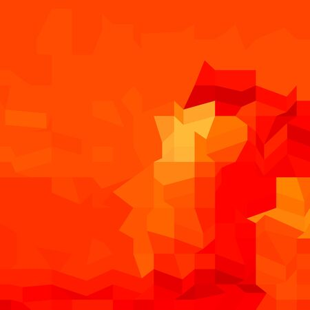 Low polygon style illustration of a red robot abstract background. Vector