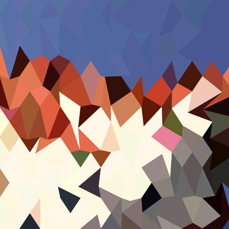 polyhedron: Ilustraci�n de estilo poligonal baja de un cielo de monta�a de fondo abstracto.