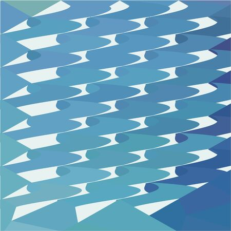 green fish: Low polygon style illustration of a green fish hooks abstract background. Illustration
