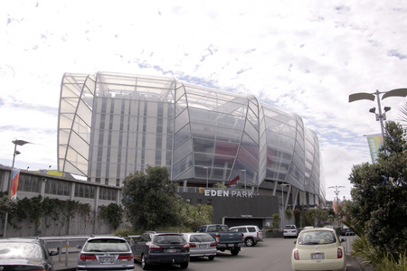 livery: AUCKLAND-Mar.4: Entrance of the venue  Eden Park Rugby Stadiu, Auckland Cricket and Auckland Rugby. Many major rugby and cricket matches have been hosted at the Park most recently the Rugby World Cup 2011 and the  Cricket World Cup 2015. It is host for th Editorial