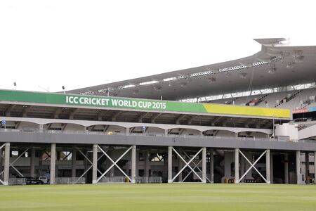 icc: AUCKLAND-Mar.4: Entrance of the venue of the ICC Cricket World Cup 2015 jointly hosted by Australia and New Zealand from 14 February to 29 March 2015 where Cricket teams will play ODI matches at the Eden Park Rugby Stadium in Auckland, New Zealand on Wedn