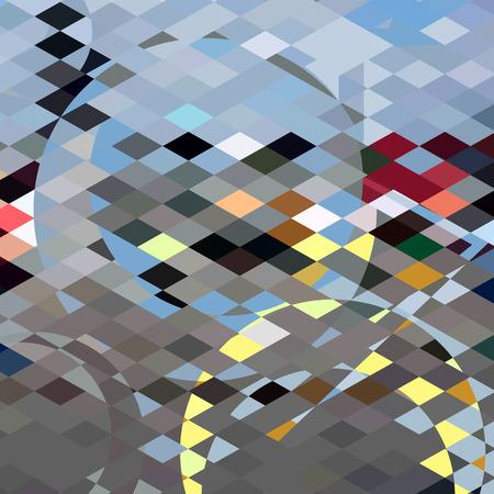 polyhedron: Ilustraci�n de estilo poligonal baja de burbujas azules fondo abstracto. Vectores