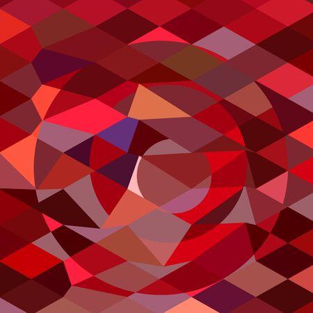 sol naciente: Ilustración de estilo poligonal baja de un sol naciente fondo abstracto. Vectores