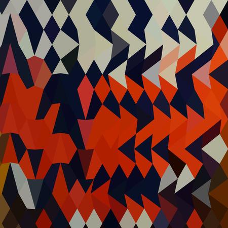 arlecchino: Bassa illustrazione stile poligono di un arlecchino astratto.
