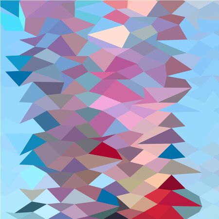 ruby red: Low polygon style illustration of a aqua ruby red abstract background.