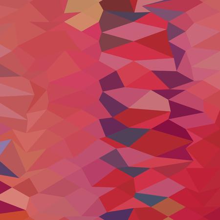 carmine: Low stile illustrazione poligono di una rosa carminio sfondo astratto.