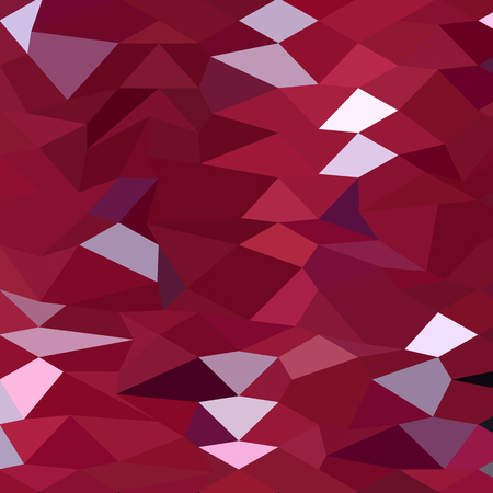 polyhedron: Low polygon style illustration of a carmine red abstract background. Illustration