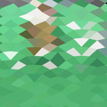 polyhedron: Ilustraci�n de estilo poligonal baja de verde esmeralda fondo abstracto.