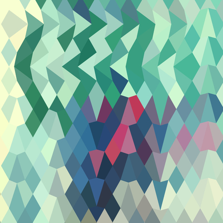 myrtle: Low polygon style illustration of myrtle green  abstract geometric background. Illustration