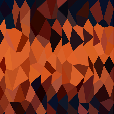persimmon: Low polygon style illustration of a persimmon orange abstract geometric background. Illustration