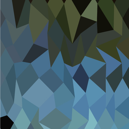 polyhedron: Low polygon style illustration of a blue sapphire abstract geometric background.