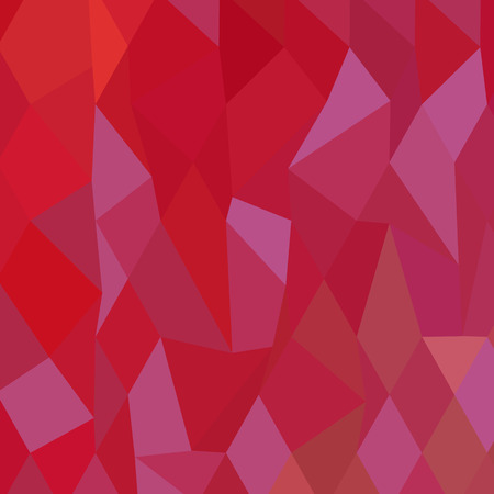 cadmium: Low polygon style illustration of imperial purple cadmium red abstract geometric background.