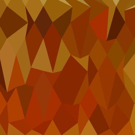 Low polygon style illustration of pastel orioles orange abstract geometric background. Illustration